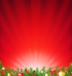 Xmas Card With Fir Tree vector image vector image