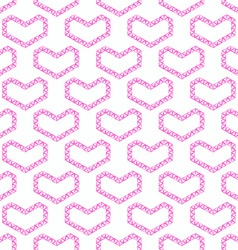 Abstract love seamless pattern - pink heart shapes vector image