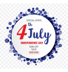 american independence day of 4th july with round vector image vector image