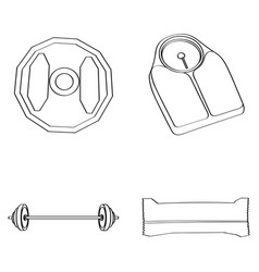 set of gym icons vector image