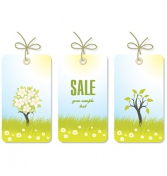 set of nature tags vector image vector image