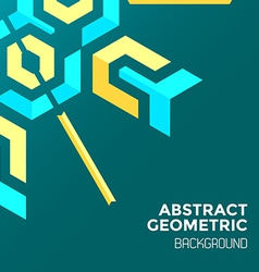 Blue yellow green abstract geometric background vector