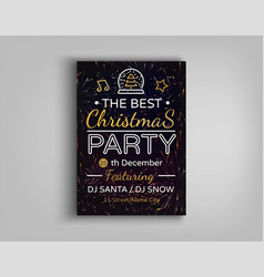 christmas party brochure vector image