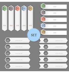 Design templates banners for infographics vector image