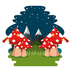 fairytale landscape and nature scene vector image
