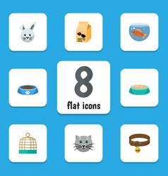 flat icon animal set of feeding nutrition box vector image vector image