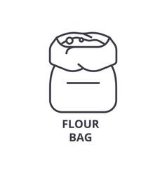 flour bag line icon outline sign linear symbol vector image vector image