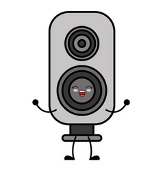 kawaii speaker icon vector image vector image