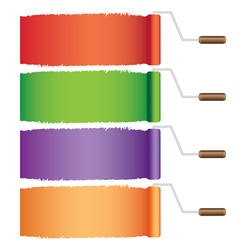 Rollers with colors vector image