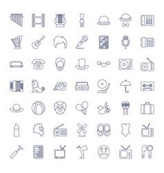49 retro icons vector