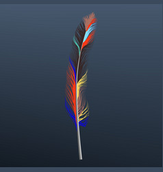 abstract feather icon realistic style vector image