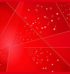 Abstract geometric glowing background with sparks vector