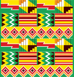 African tribal design kente nwentoma pattern vector