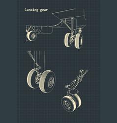 Airplane landing gear vector