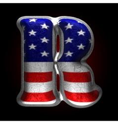 American metal figure r vector