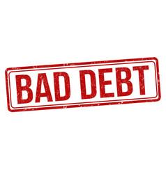 Bad debt sign or stamp vector