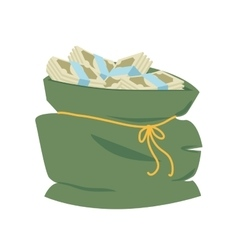 bag money sack business dollar icon graphic vector image