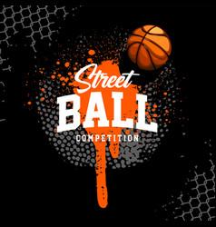 Basketball banner design template vector