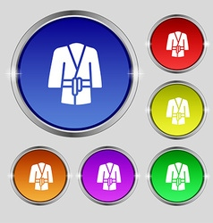 Bathrobe icon sign Round symbol on bright vector