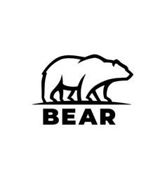 Bear logo icon vector