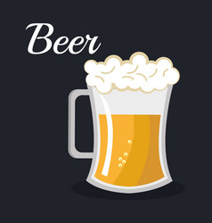 Beer beverage drink isolated vector