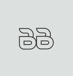 Black and white alphabet letter bb b b logo vector