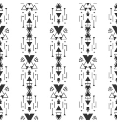black and white navajo aztec seamless vector image