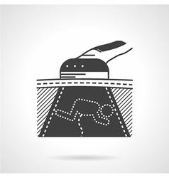 Black icon for womb sonogram vector image