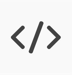 Black slash brackets symbols icon vector