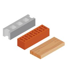 block brick and plank vector image