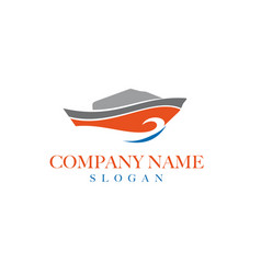 Boat logo design 2 vector