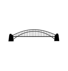 bridge silhouette vector image