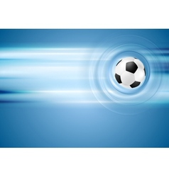 Bright blue football background vector image