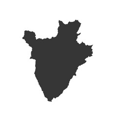 burundi map silhouette vector image