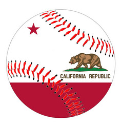 california flag baseball vector image