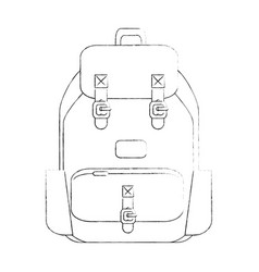 camping backpack vector image