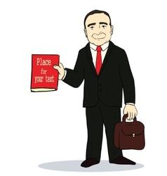 Cartoon standing vector image