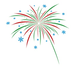 Christmas firework design on white background vector image