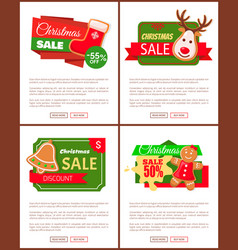 christmas sale price off cookies and text web vector image