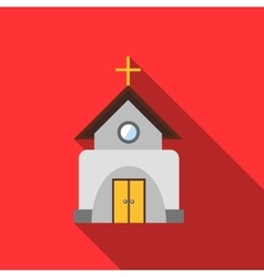 Church icon flat style vector image