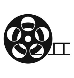 cinema reel icon simple style vector image
