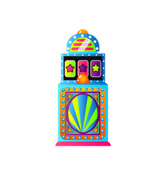 Colorful game slot machine with blue stripes and vector