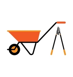 Construction wheelbarrow vector image