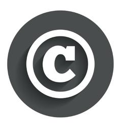 Copyright sign icon Copyright button vector
