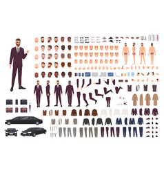 Elegant man dressed in business or smart suit vector