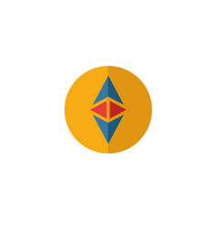 Ethereum icon set four elements in diferent vector