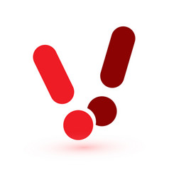 exclamation mark attention web message danger vector image