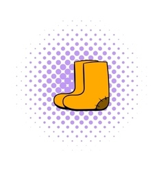 Felt boots icon comics style vector image