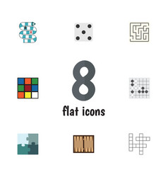 flat icon entertainment set of cube labyrinth vector image