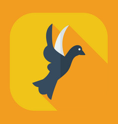 Flat modern design with shadow icons dove vector